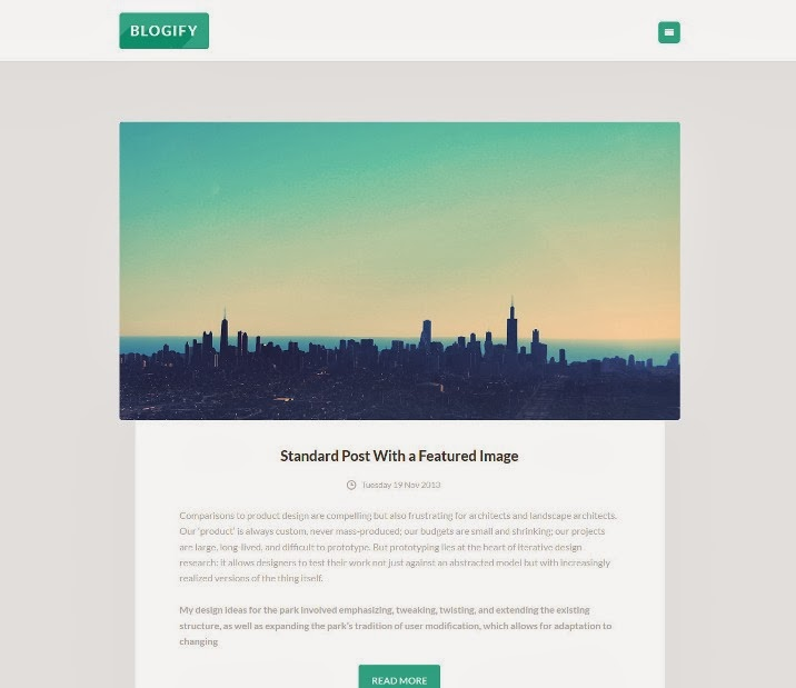 Blogify Simple Flat Responsive Ghost Theme