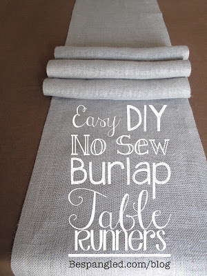 DIY No Sew Burlap Table Runners - DIY Home Decor