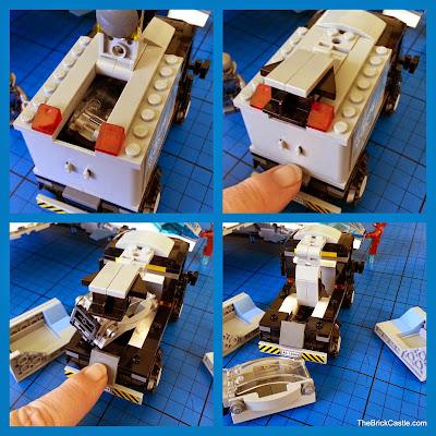 LEGO Avengers Quinjet 76032 explode lab truck exploding