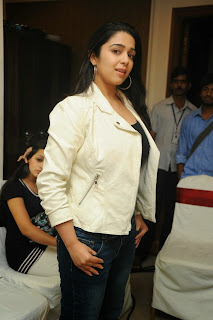 Actress Charmi Kaur Pictures in Jeans at One by Two Movie Celetes 20 Years Event 0065