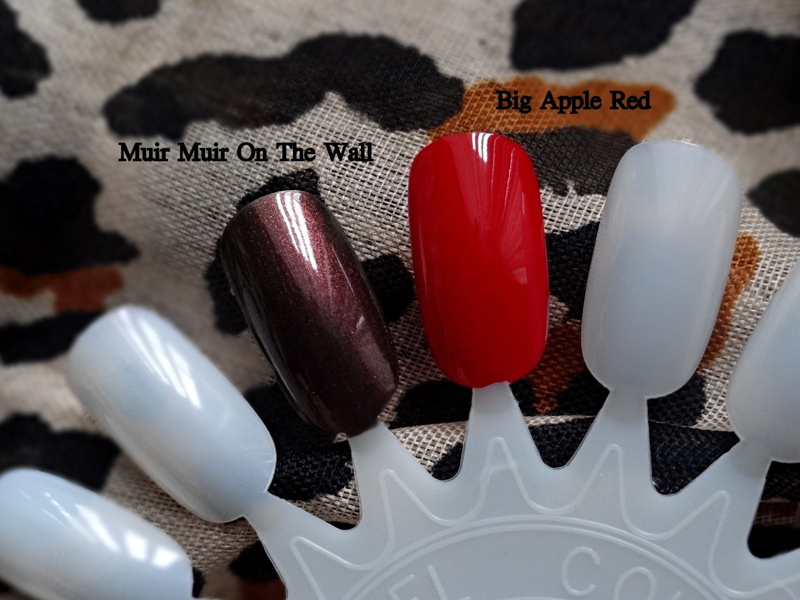 OPI Wrapped Wild For The Holidays - Muir Muir On The Wall, Big Apple Red | OPI Holiday 2014 Limited Edition Swatches