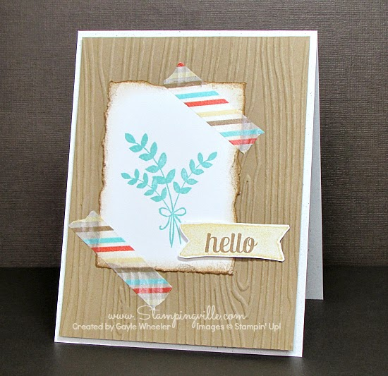 Woodgrain Fall Hello Card | Stampingville