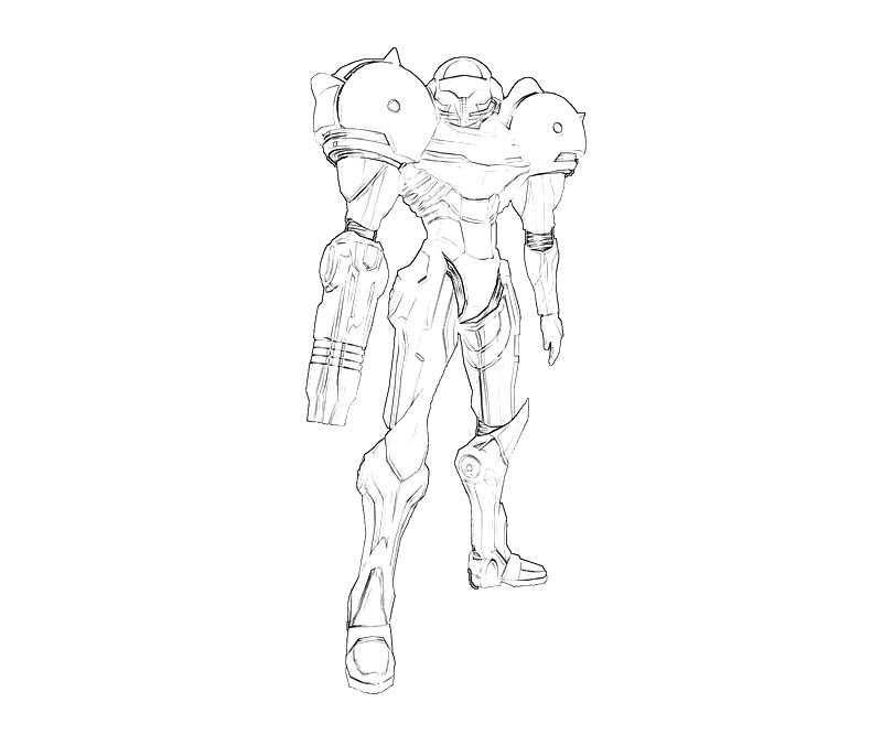 printable samus aran profil_coloring pages 2