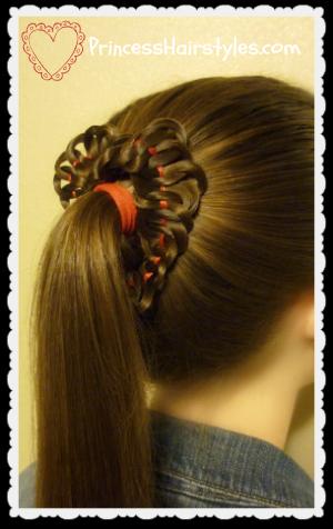ruffled heart hairstyle tutorial