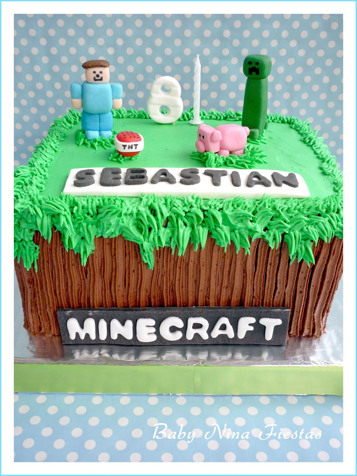 Baby nina fiestas tarta minecraft para sebastian - Detalles de decoracion ...