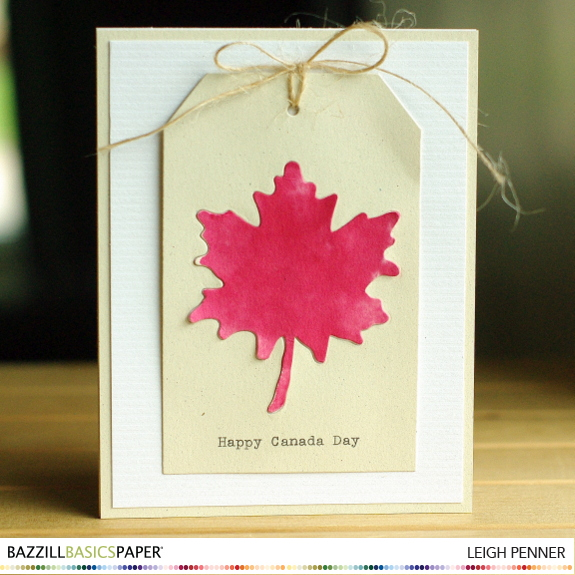 Happy Canada Day Leigh Penner @leigh148 @bazzillbasics #bazzillbasics #classics #cards