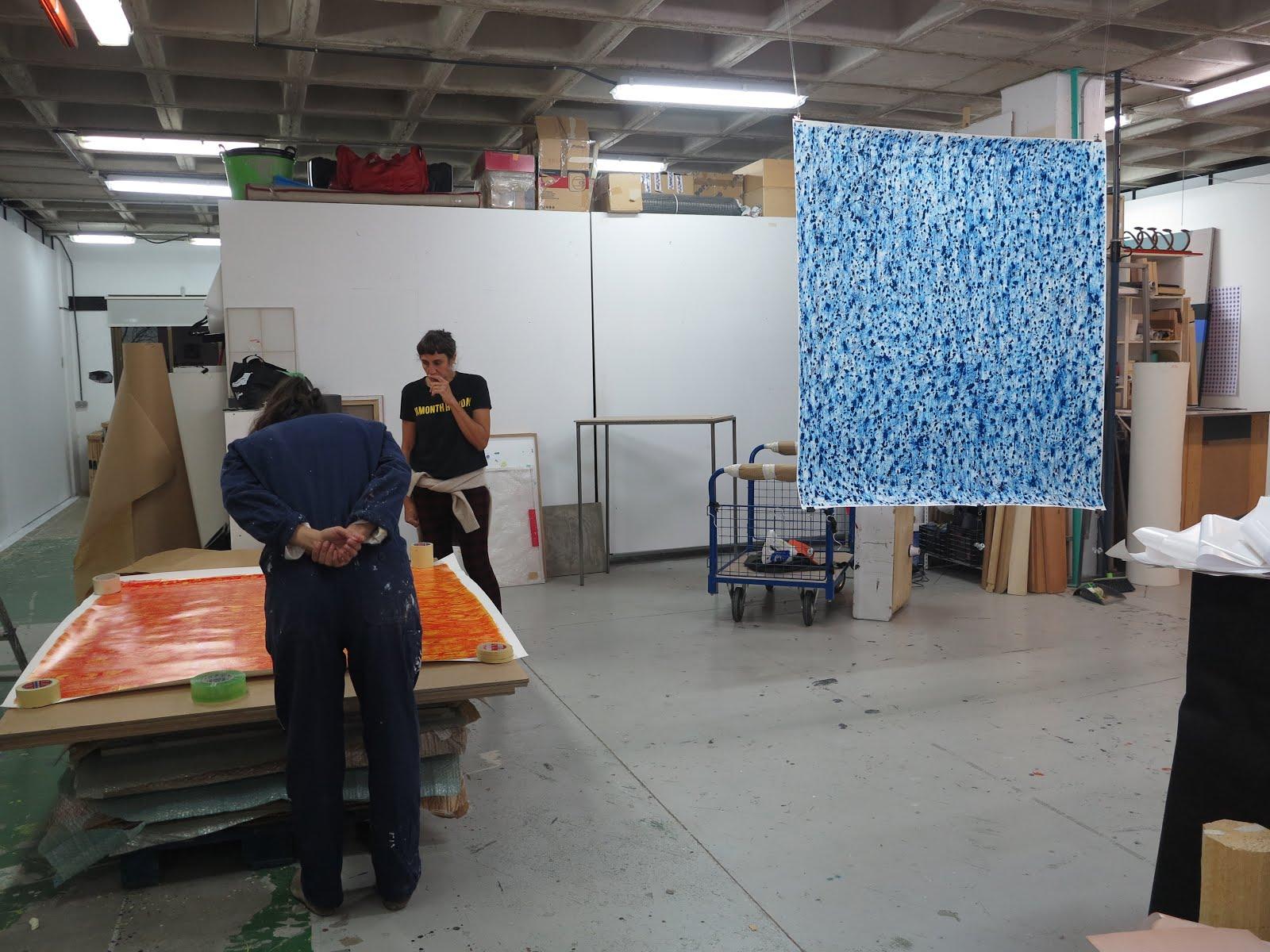 montaje muestra en Nave Oporto