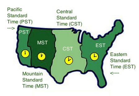 Coordinating Meetings At End Of Daylight Savings Time Authentic - Time change map usa