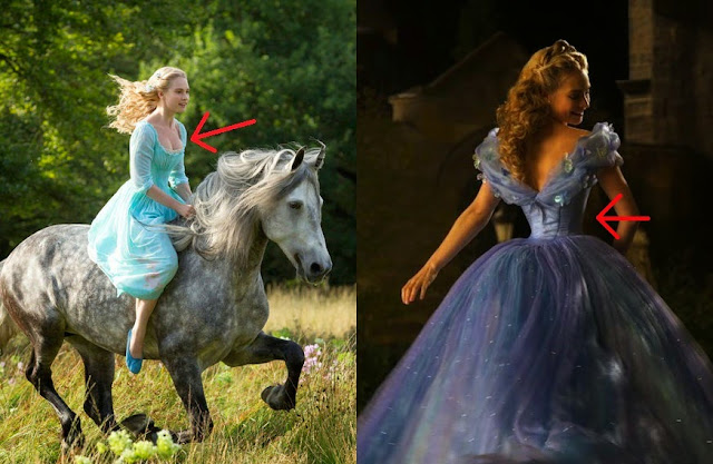 Cinderella 2015 cleavage waist