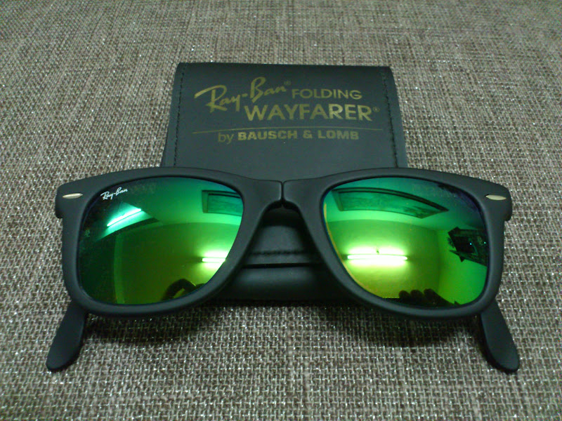 ray ban wayfarer folding mirror