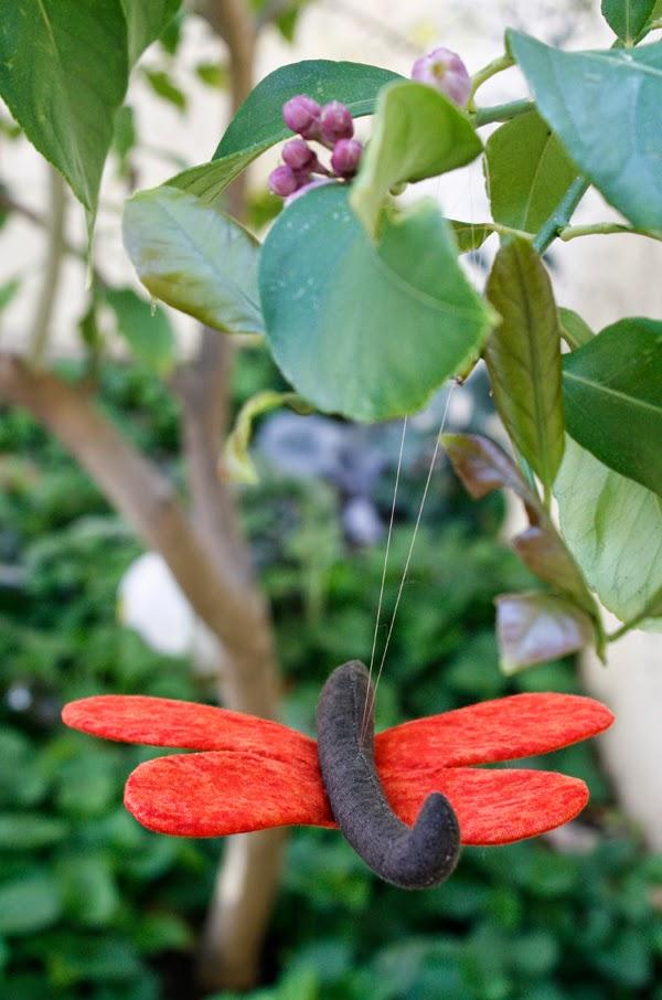 libélula de tela