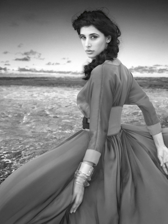 Nargis Fakhri Harper Bazaar Scan1 - Nargis Fakhri SIZZLES in the Maldives for Harper's Bazaar