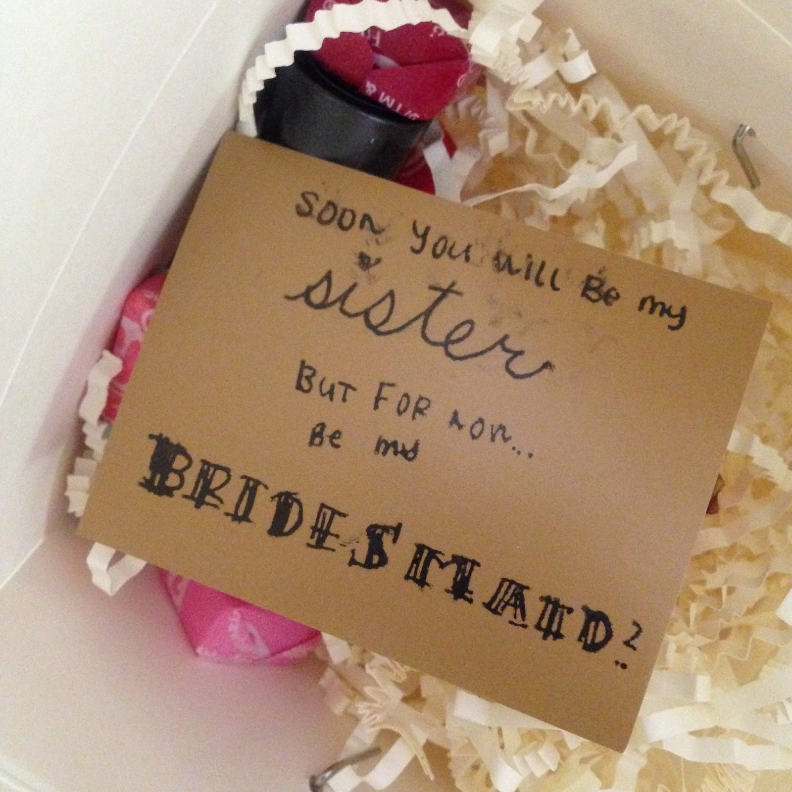 bridesmaid gifts take out box of goodies floraful