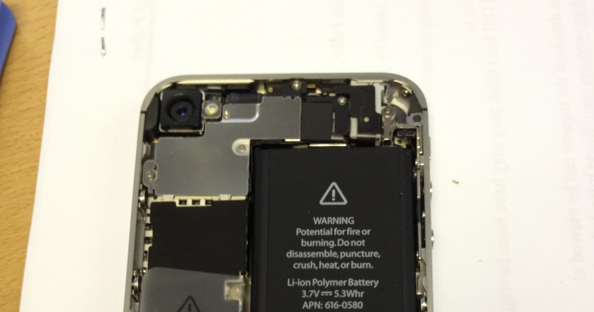 how to open an iphone get battery out