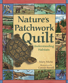 "Book cover: ""Nature's Patchwork Quilt"" by Mary Miche"