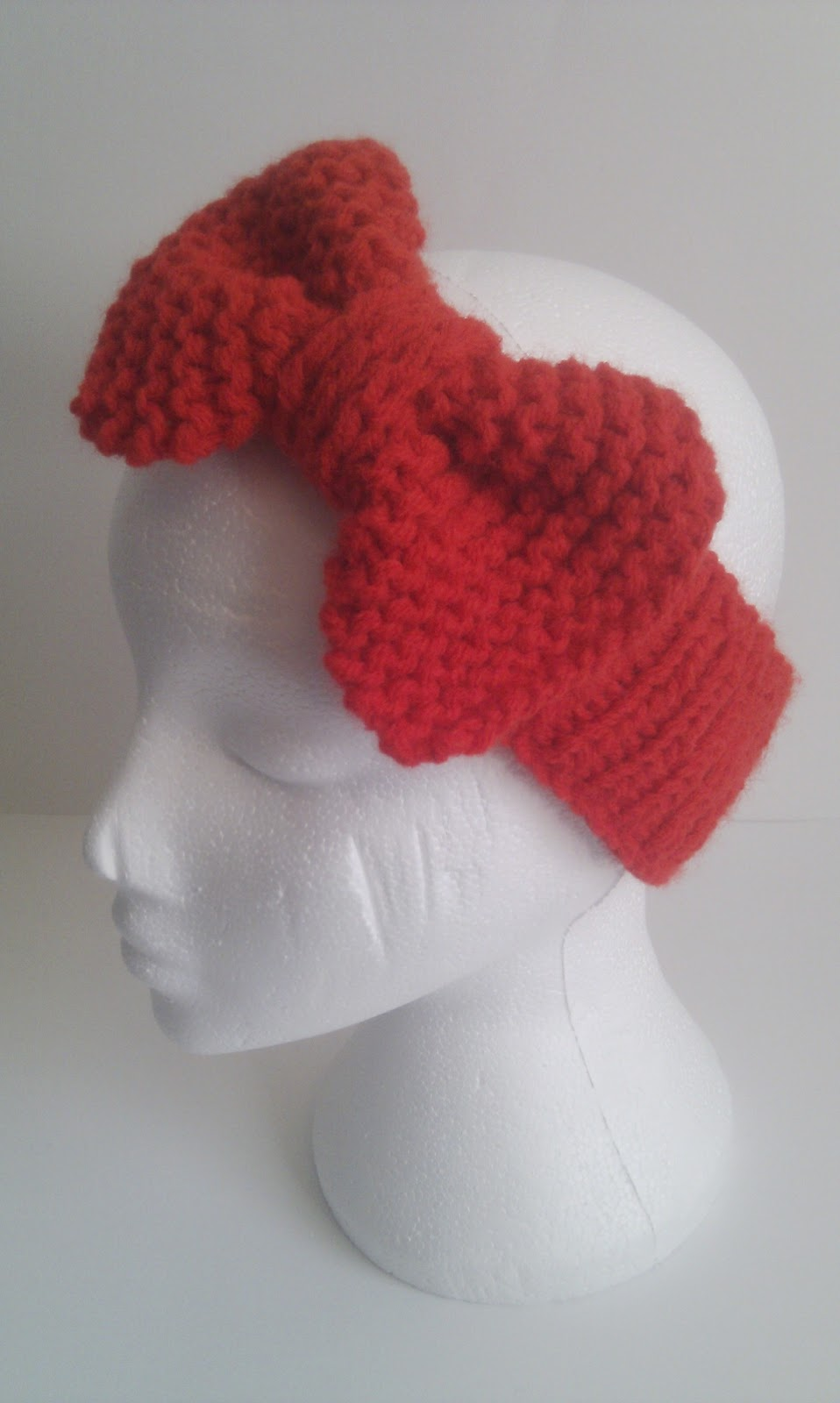 Knitted Headband Patterns Free : Musings of a knit-a-holic from Wales: Free Knitting Pattern: Beau Bow Headband