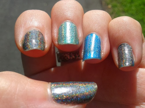 Layla Hologram Effect Swatches