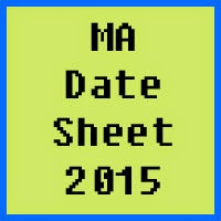 IUB MA Date Sheet 2016 Part 1 and Part 2