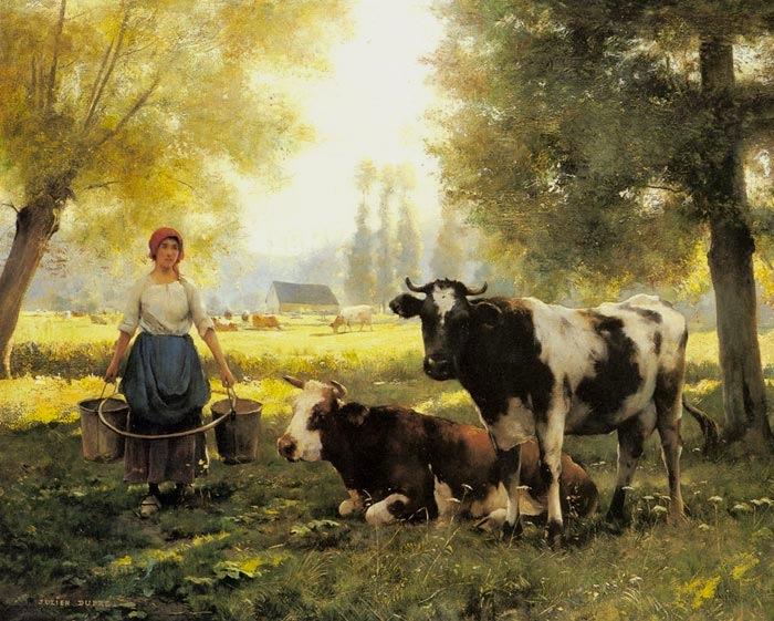 Illuminaries julien dupre - Cuadros de vacas ...