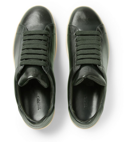 laid back luxe tom ford leather tennis sneakers shoeography