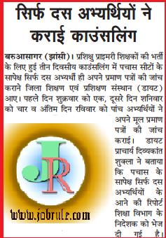 UP TET 72825 Primary School Teachers (PRT) Latest News 1st September 2014