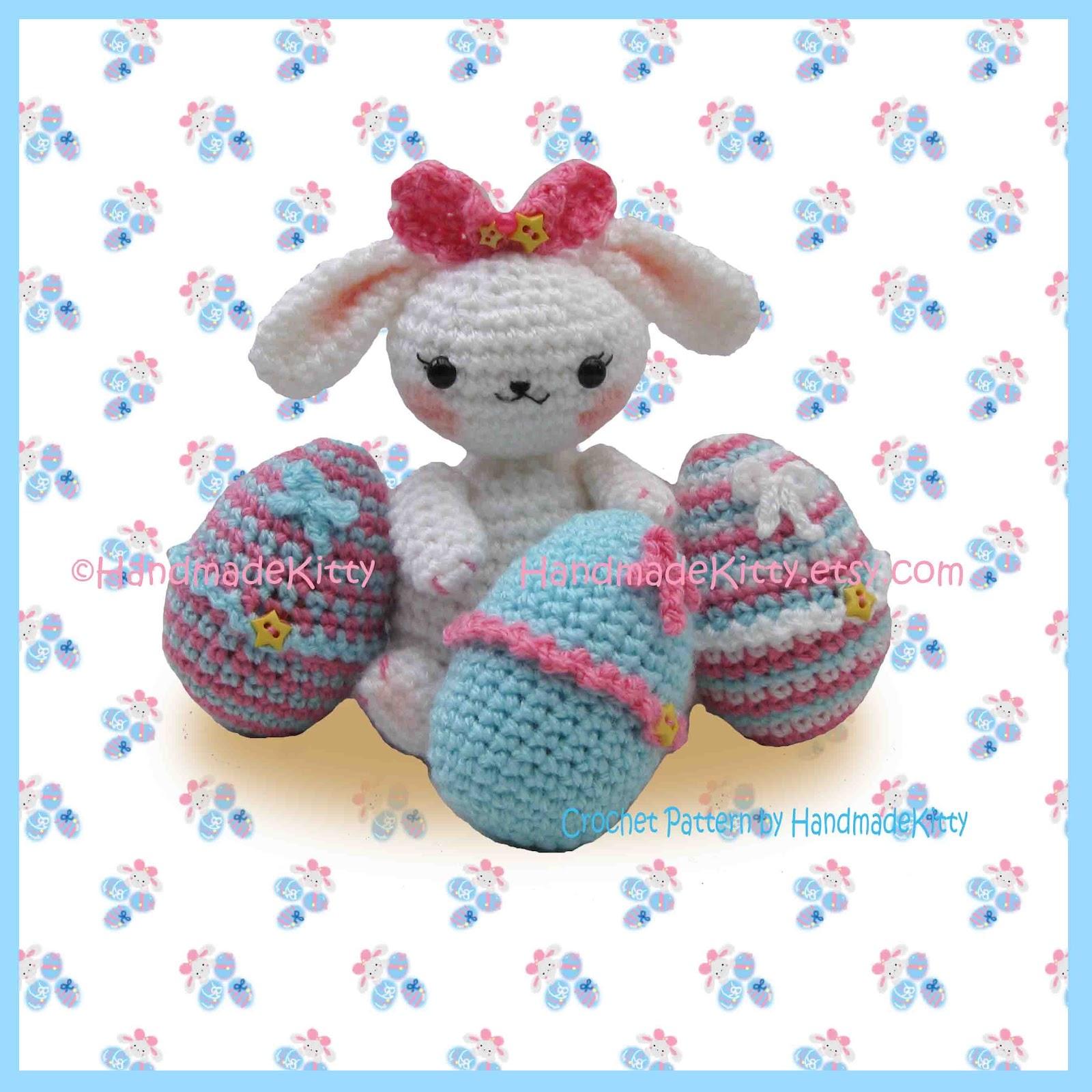 Amigurumi Egg Cozy : HandmadeKitty: Easter Bunny with Cute Egg Cozy Cases ...