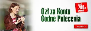 Konto Godne Polecenia BZ WBK, 700 zł Premii