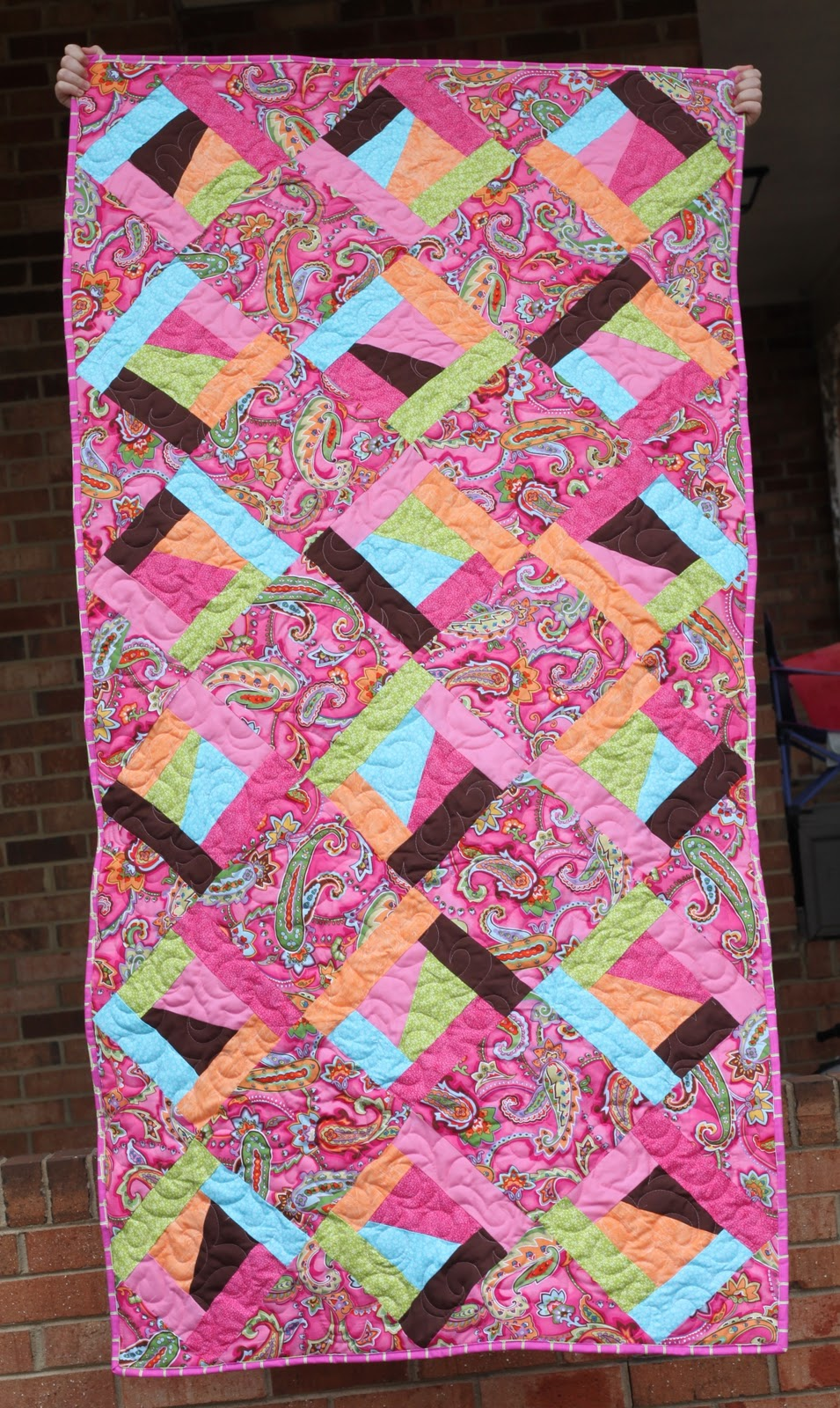 *Red Poppy Quilts*: Wave Quilting Pattern and a Finish!