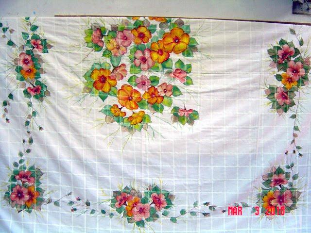 Fabric Painting Designs On Bedsheet Surface Design Rough Edge Machine