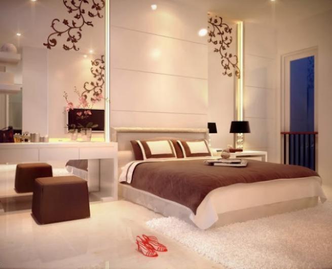 Un bel ensemble de d coration de chambre coucher for Decoration interieur de chambre a coucher