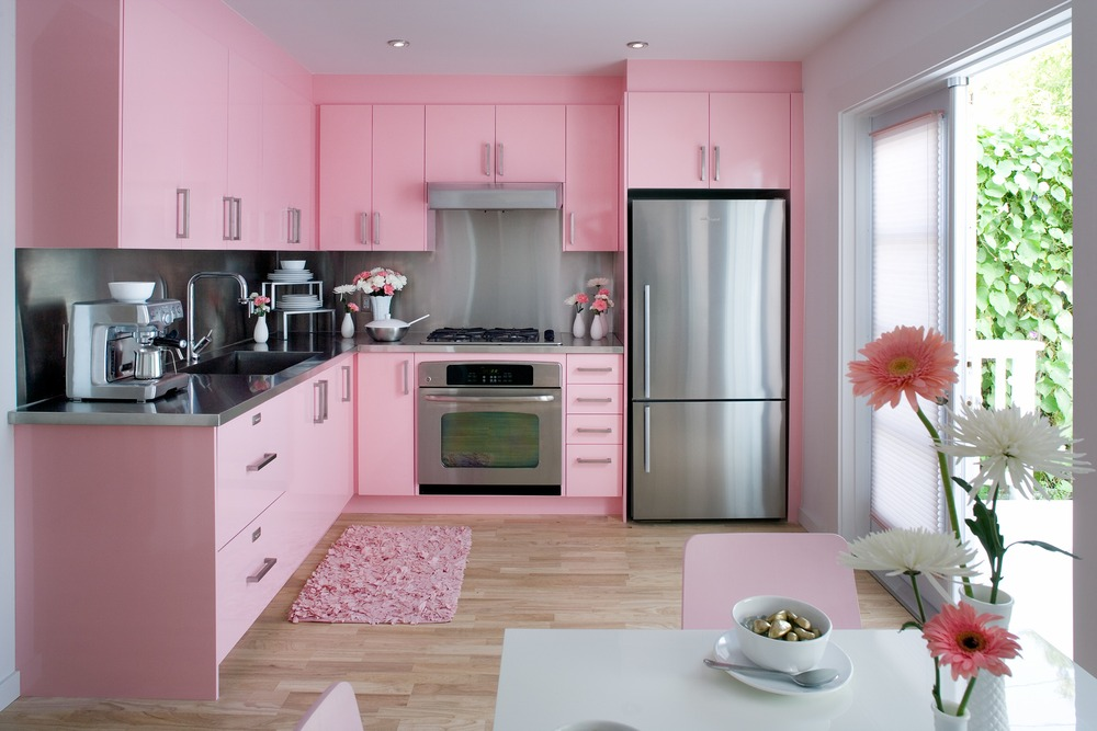 cozinhas rosas : Cozinha rosa