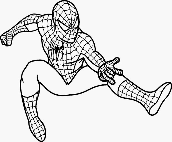 Spiderman Coloring Pages For Kids | Free Coloring Pages