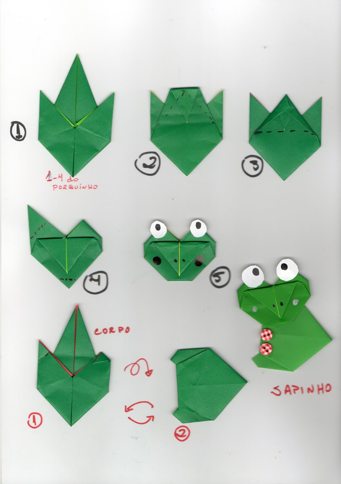 How To Make An Origami Frog With Pictures