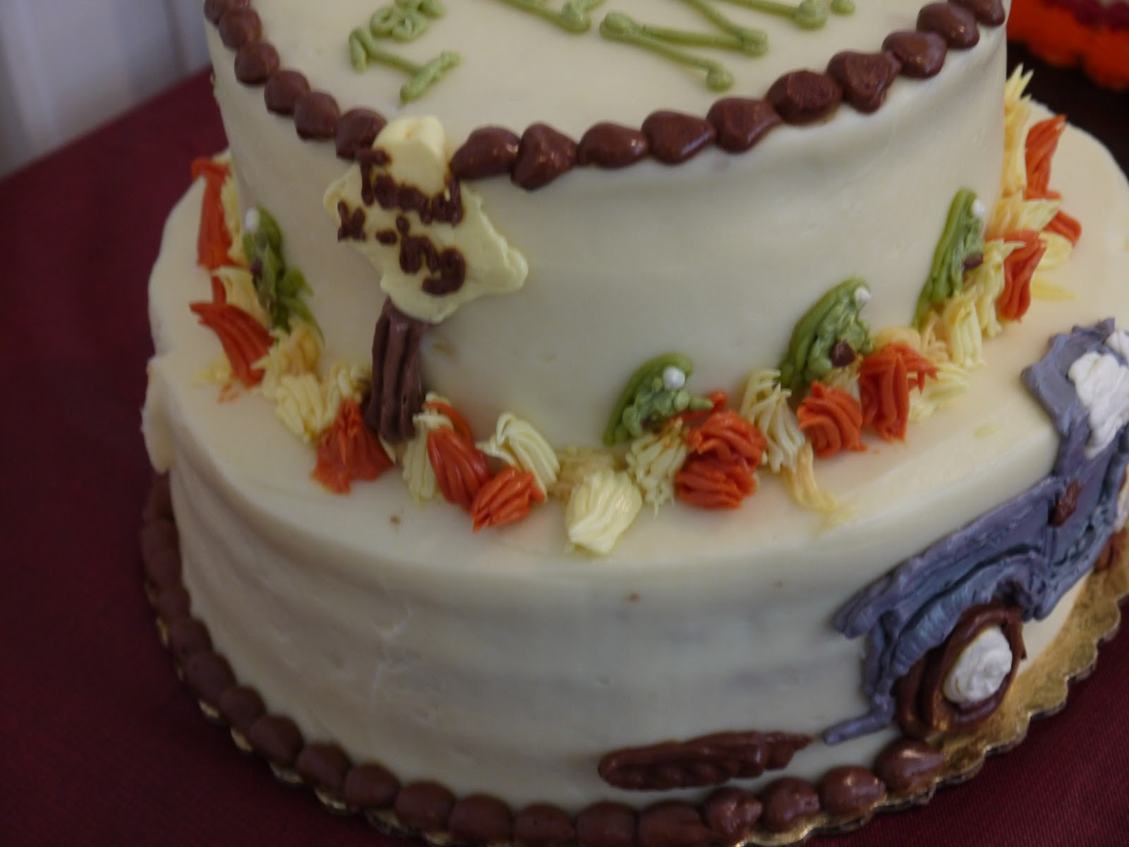 with the Birthday Boy  Apple Shaped Birthday Cake