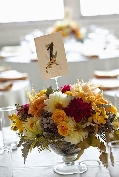 2014 Beautiful Fall Wedding Centerpieces by Azalea Floral Design