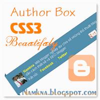 Khung Author box đẹp từ CSS3 cho blogger