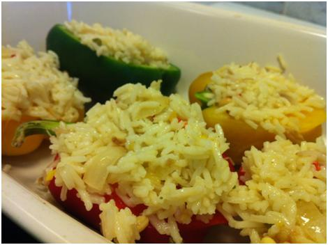 rice-filled bell peppers