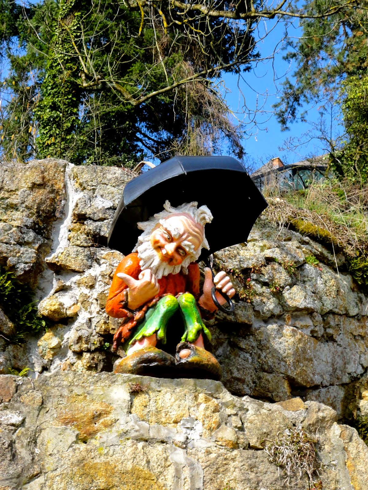 Mountain dwarf statue in Linz, Austria