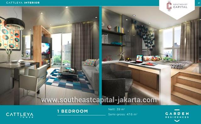 Southeast Capital Jakarta Apartemen 1BR Interior Design