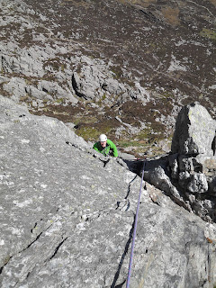 Tryfan, Tryfan East Face, Ogwen Area, Snowdonia, Belle Vue Bastion, Terrace Wall, Climbing, Andy McQue, Andrew McQue
