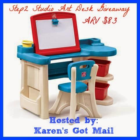 http://notquitecrunchymommy.blogspot.com/2015/04/step2-studio-art-desk-giveaway-42-416.html