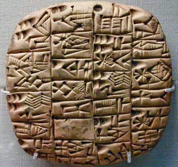 escritas sumerianas