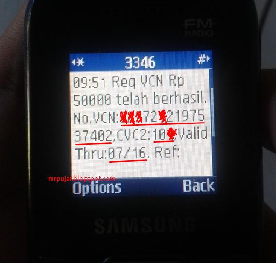 nomor code VCN BNI untuk beli gems coc
