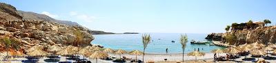 Aradena gorge: Marmara beach