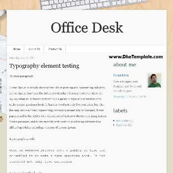 Office Desk blogger template.