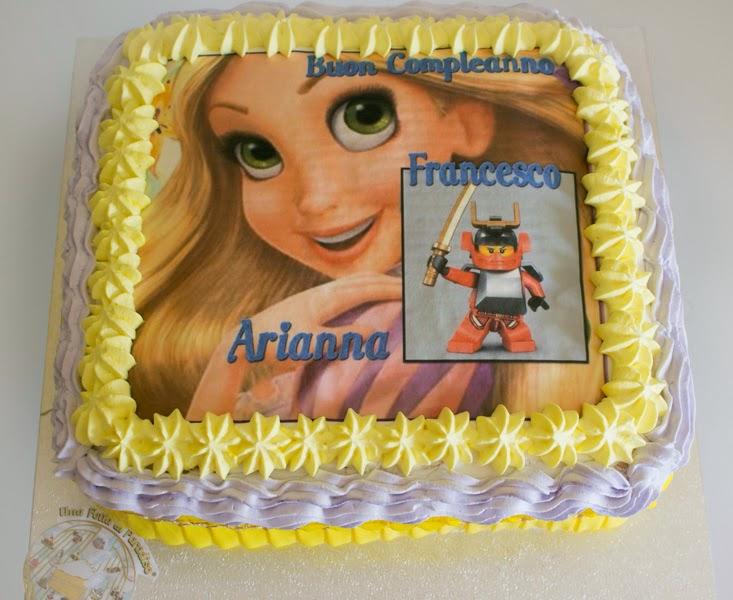 Torta rapunzel e ninjago for Decorazioni torte ninjago