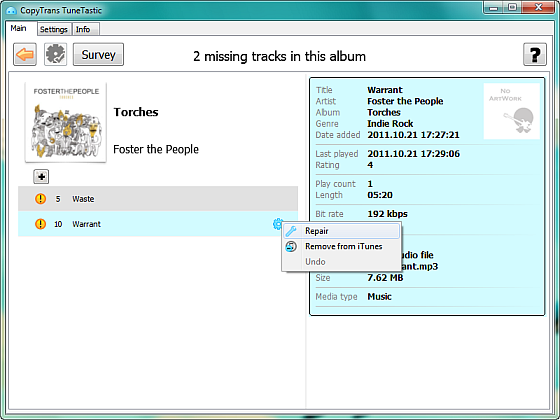 how to delete all missing songs on itunes