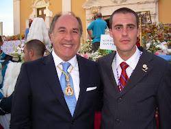 Alcalde de Algeciras con Presidente Casa de Ceuta en Algeciras en las Fiestas Patronales 2011