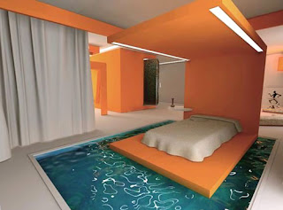 Pool surrounding bed
