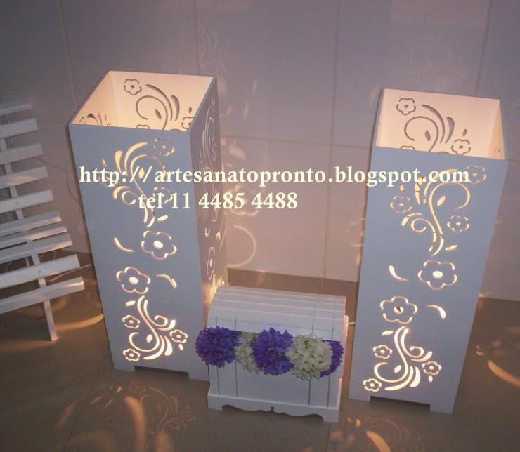 Base para Mesa provençal ou Clean R$ 110,00 cada com iluminação
